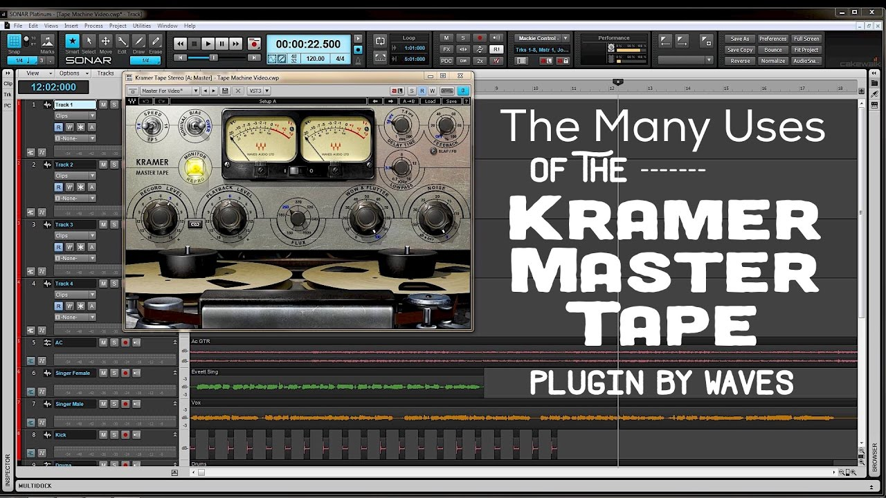 the many uses of the kramer master tape plugin by waves youtube. Black Bedroom Furniture Sets. Home Design Ideas