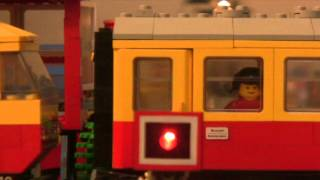 Lego train railroad crossing PART III 12V 7866 7760 7740 7860