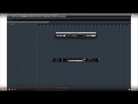 Cubase LE AI Elements 8 – Quick Start Video Tutorials – Setup