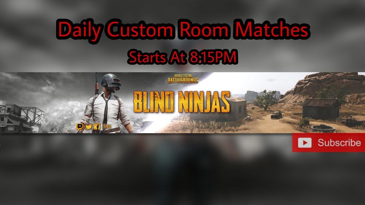 🔴Live | PUBG Room match | TPP Erangel | BLIND NINJAS |