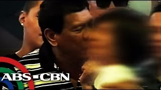 Bandila: WATCH: Duterte greets women with