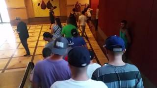 mgm grand there s only one conor mcgregor song weigh ins ufc 178 irish fans dustin poirier vegas