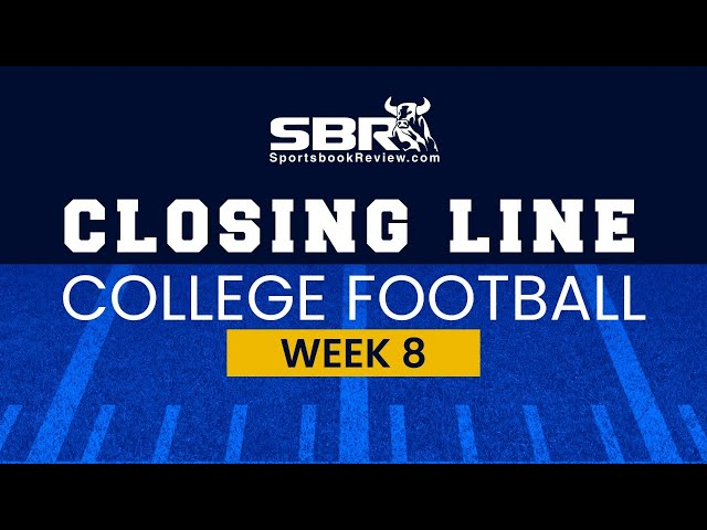 College Football Week 8 Closing Lines | NCAAF Game Picks & Predictions
