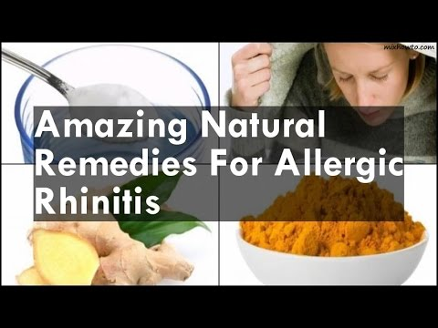 Natural Remedies For Allergic Rhinitis