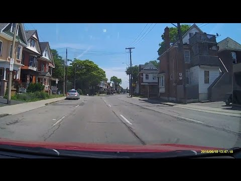 Driving Through Hamilton Streets, Ontario