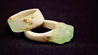 Как сделать кольца из эпоксидной смолы и дерева