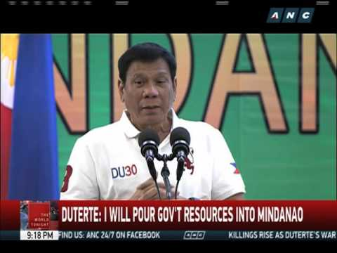 Duterte: I will pour gov't resources in Mindanao