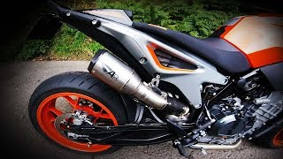 KTM 790 Duke Austin Racing Slip on | NO DB KILLER | No Wind Noise!