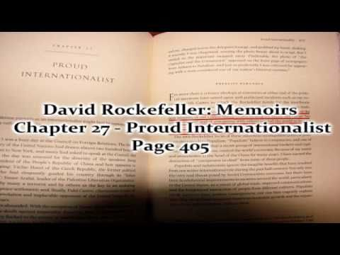 David Rockefeller admits that he's a traitor to the United States
