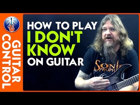 how to play i don 39 t know on guitar ozzy osbourne riff lesson youtube
