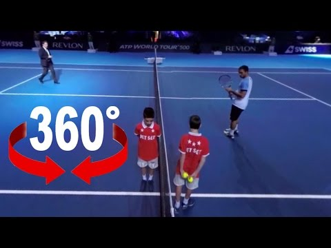 360° walk on court | Swiss Indoors Basel | Tennis