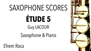 ÉTUDE 5 – Guy LACOUR – Saxophone & Piano accompaniment