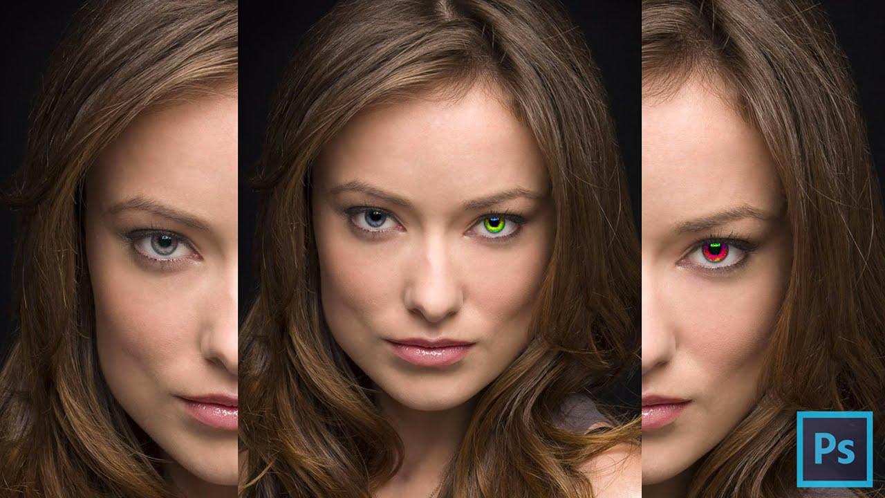 Come cambiare il colore degli occhi su photoshop youtube - Colore degli occhi diversi ...