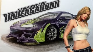 Mitsubishi Eclipse Need Underground Fan Art Car Drawing Fast Art