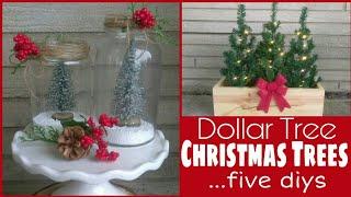 Dollar Tree DIYs • five upgrades to $1 Christmas trees