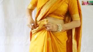 How To Wear Silk Saree Very Quickly & Perfectly( DIY Sari Drape To Look Slim)