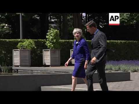 British PM May meets Dutch leader