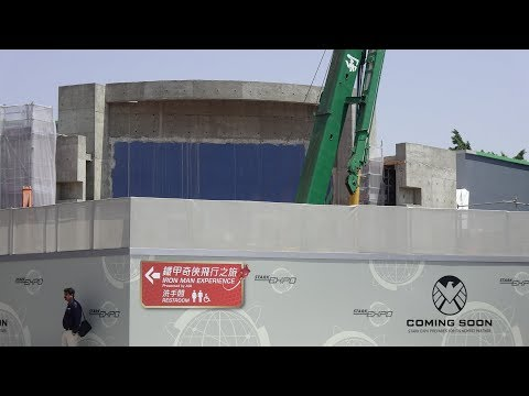 【4K】180321 Tomorrowland MARVEL Super Hero Attractions Construction Update at Hong Kong Disneyland
