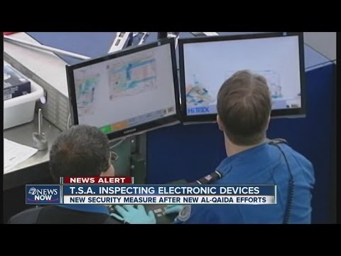 TSA inspecting electronic devices