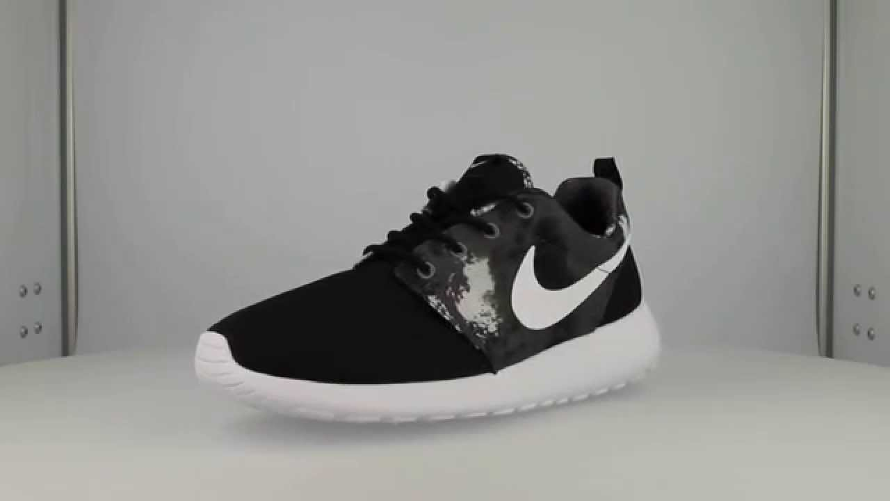 nike roshe one print floral - cool grey