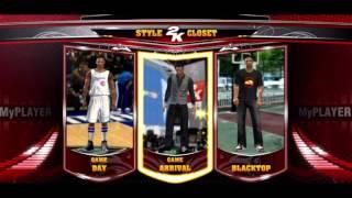 NBA 2K13 My Player /  My Career Introducing The New 2K Style Closet | Blacktop Returns