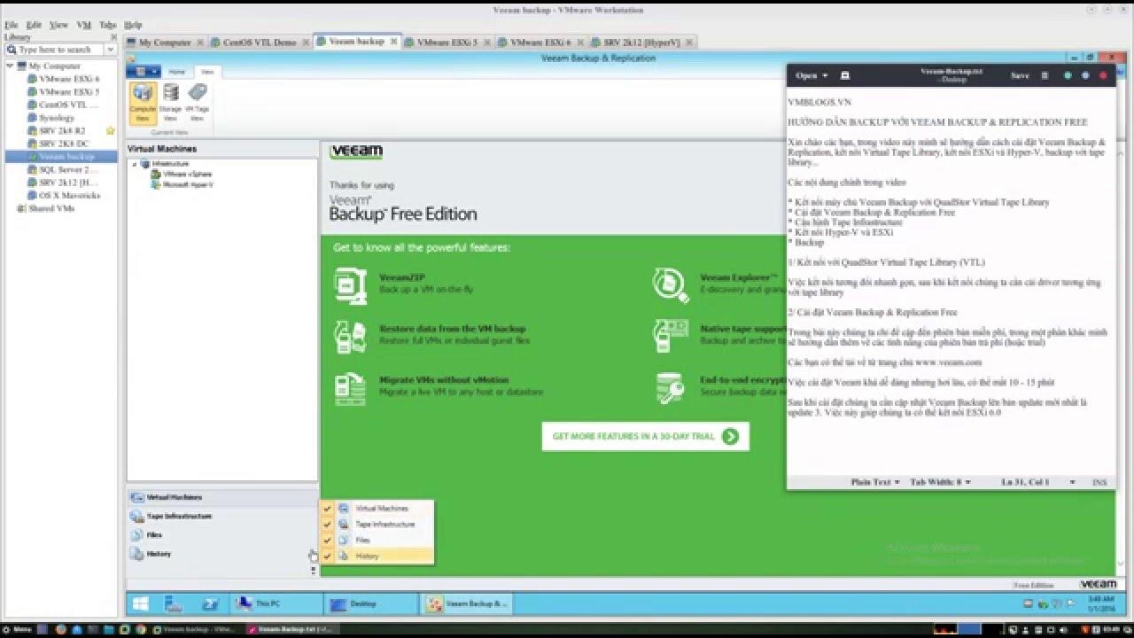 Sử dụng Veeam Backup & Replication với QuadStor Virtual Tape Library