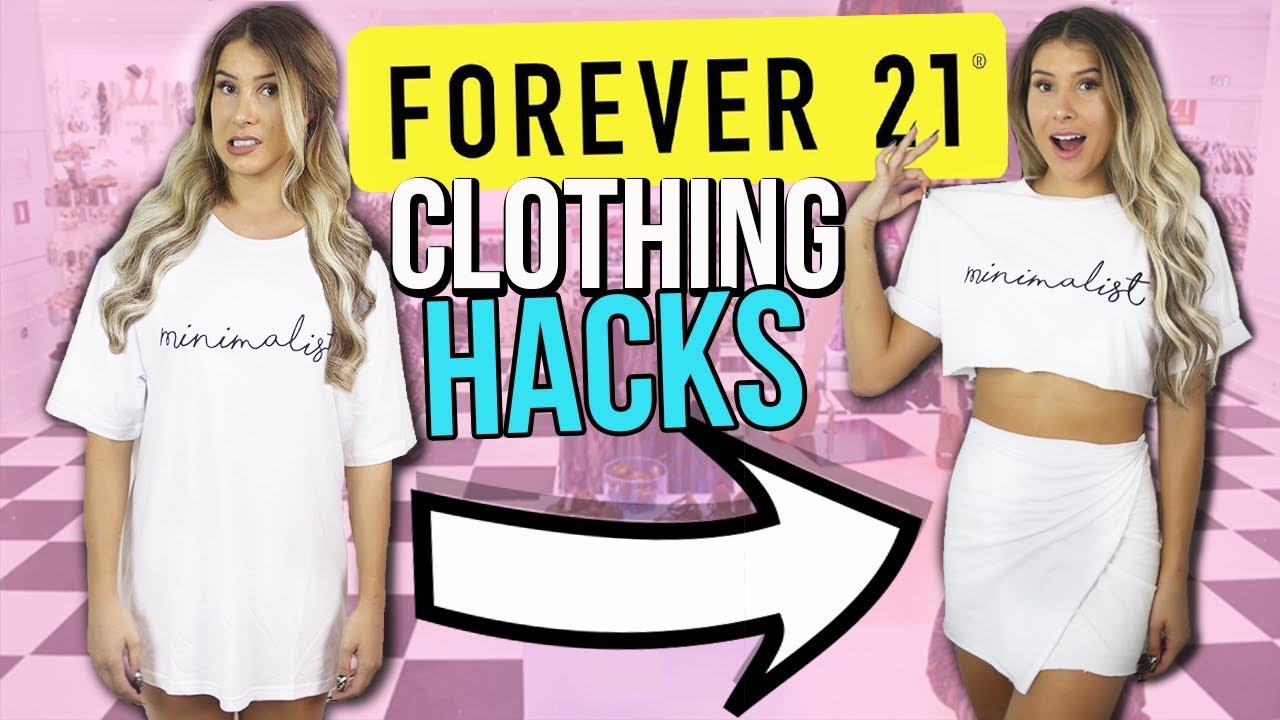 43187ad357b92 5 FOREVER 21 CLOTHING Hacks EVERY Girl MUST KNOW !! - YouTube