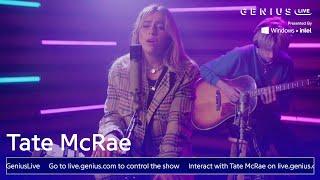 "Tate McRae ""working"" (Live Performance)   Genius Live"