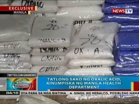Tatlong sako ng oxalic acid sa Divisoria, Maynila, kinumpiska ng Manila Health Department