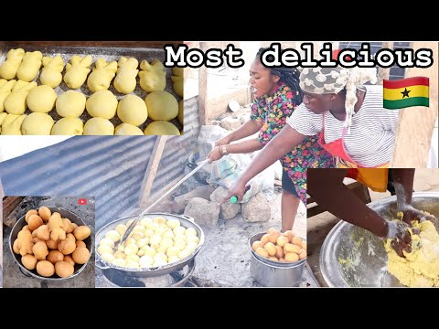 How to MAKE Africa's Most delicious Snack|| Puff puff , BOFROT || Sunyani Ghana West Africa