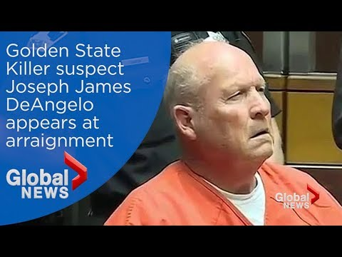 Golden State Killer suspect makes arraignment appearance - YouTube