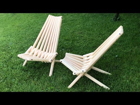 Wooden folding chair homemade
