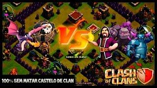 Clash of Clans - 100% sem matar tropas do castelo do clan