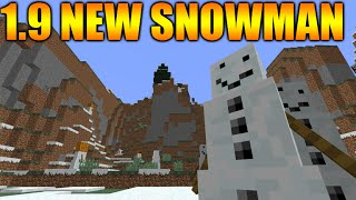 ★Minecraft 1.9 Snapshot Review - 15w49b - NEW Derpy Face Snowman Improved Mobs & MORE★