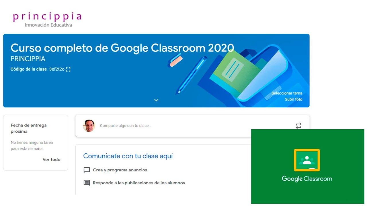 13 Trabajando con el Tablón en Google Classroom 2020   YouTube