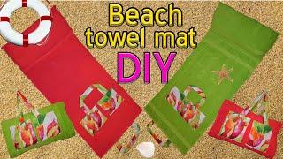 DIY beach towel mat
