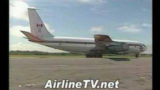 Canadian Armed Forces Boeing 707 engine start and taxi