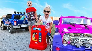 Little Girl Elis Ride On Pink Jeep My Little Pony 12V Power Wheel with Baby Doll and Thomas Ford