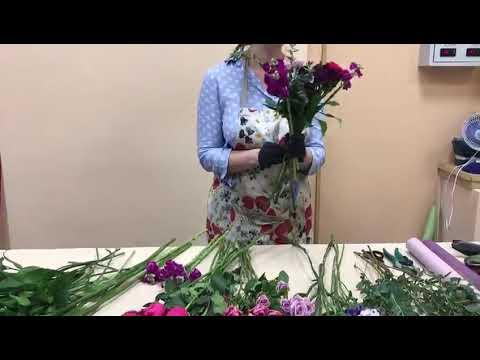 Создаем букет цветов № 144 . Мастер-класс 144, часть 3