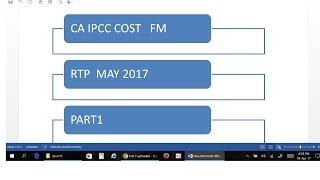 CA IPCC COST FM RTP MAY 2017 PART 1
