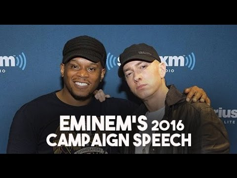 Eminem's 2016 Campaign Speech on Sway in the Morning