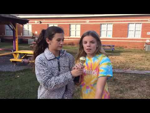 Purvis middle school news broadcast with Emma and Madison