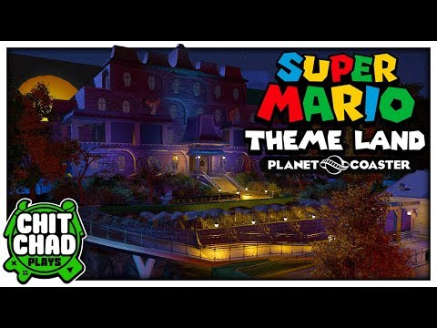 Screens in the Mansion   Super Mario Theme Park - Planet Coaster  