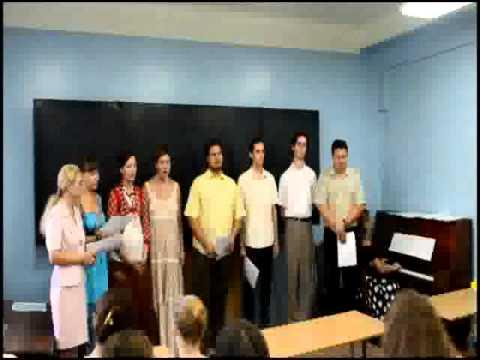 Concert of Donetsk National University chorus