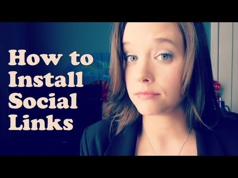 How to Install Social Links on your Website