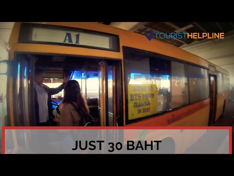 Bangkok Airport bus : Don Mueang airport to Bangkok city (2017) : The cheapest, fastest and the Best