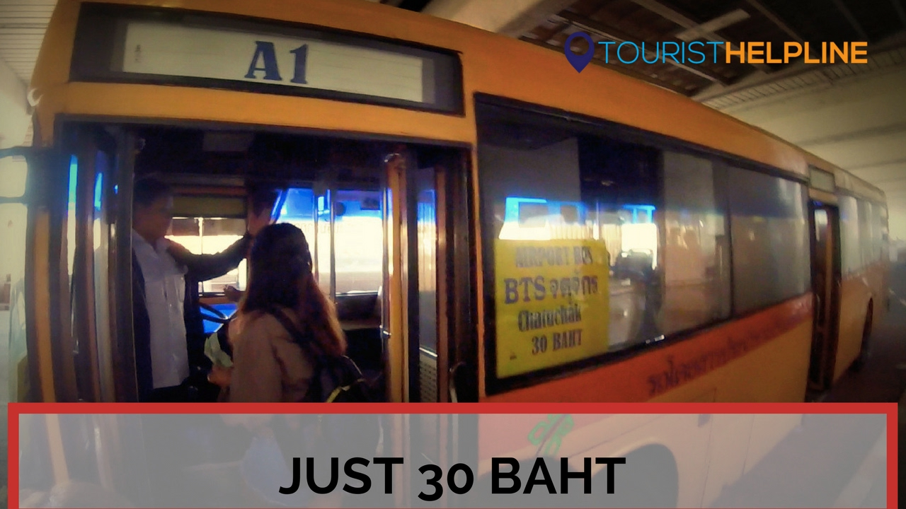 Bangkok Airport Bus Don Mueang Airport To Bangkok City 2017 The Cheapest Fastest And The Best