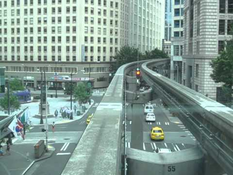 Seattle Monorail   cab ride to Westlake Center