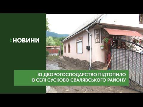 31 дворогосподарство підтопило в селі Сусково Свалявського району