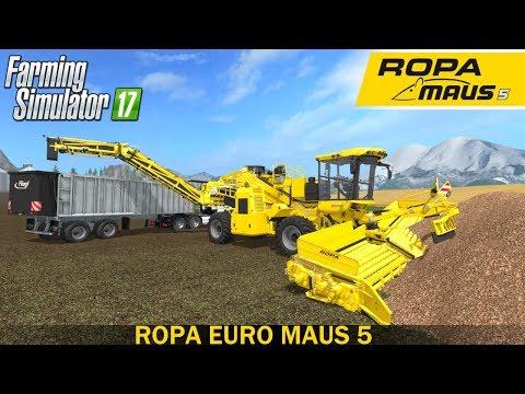 Farming Simulator 17 ROPA EURO MAUS 5 LOADING SUGAR BEET